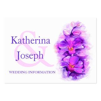 Cartão wedding roxo do cerco da informação da arte modelos cartões de visita