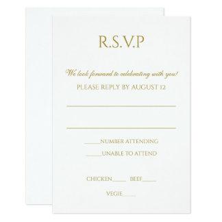 Cartão Wedding simples de RSVP