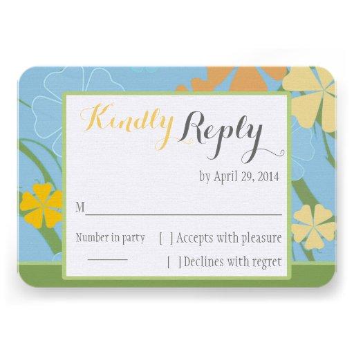 Cartão Wedding simplesmente tropical de RSVP Convite Personalizados