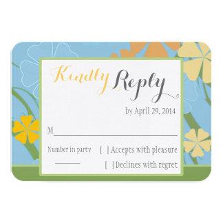 Cartão Wedding simplesmente tropical de RSVP Convite 8.89 X 12.7cm