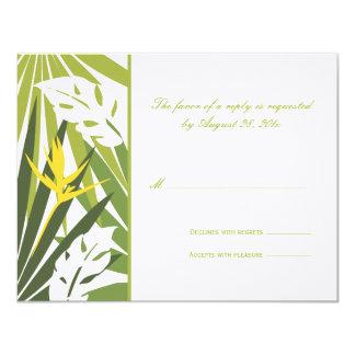 Cartão Wedding tropical de RSVP Convite Personalizados
