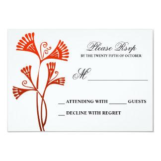 cartão wedding vermelho e branco do flourish convite 8.89 x 12.7cm