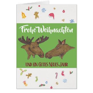 Cartão Weihnachstkarte com um alce par