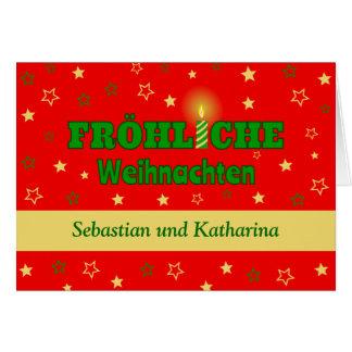 Cartão Weihnachten adiciona o Xmas conhecido do idioma