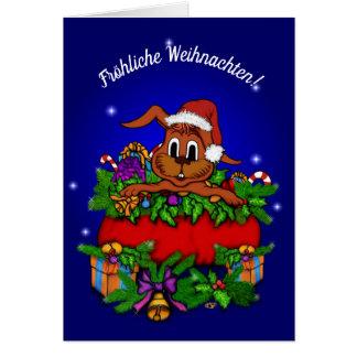 Cartão Weihnachtskaninchen, natais Joviais!