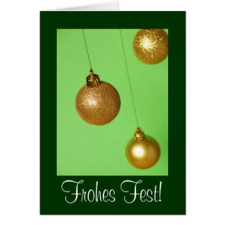 Cartão Weihnachtskarte