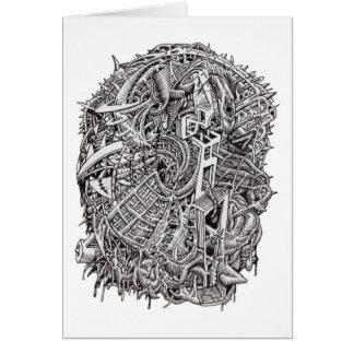 Cartão Weirdhead por Brian Benson