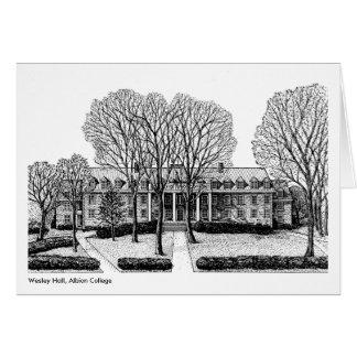 Cartão Wesley Salão, faculdade de Albion, notecard