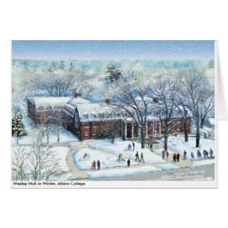 Cartão Wesley Salão no inverno, nota da faculdade de