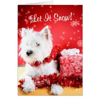 Cartão Westie deixou-o nevar cumprimentando #3 -