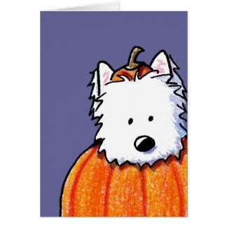 Cartão Westie Punkin