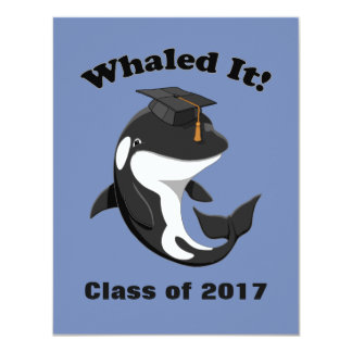 Cartão Whaled ele classe de 2017 baleias de assassino