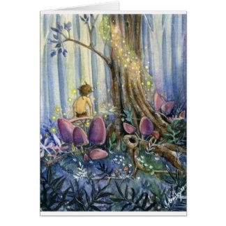 Cartão Whisperings da floresta