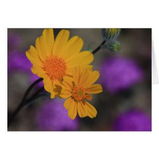 Cartão Wildflower amarelo
