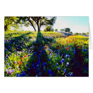 Cartão Wildflowers, luz, e sombra