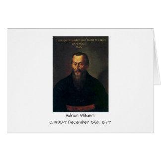 Cartão Willaert de Adrian