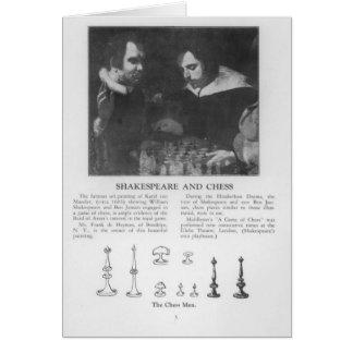 Cartão William Shakespeare e Ben Jonson