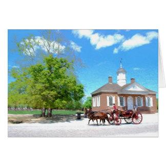 Cartão Williamsburg colonial