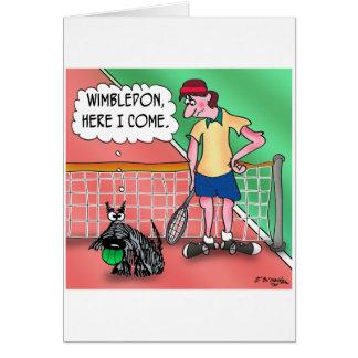 Cartão Wimbledon, aqui eu venho
