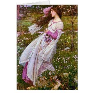 Cartão Windflowers por John William Waterhouse
