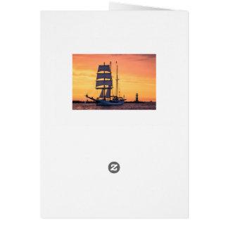 Cartão Windjammer no mar Báltico