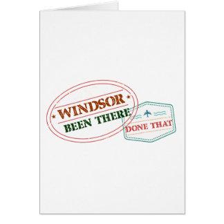 Cartão Windsor feito lá isso