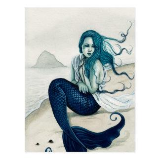 Cartão Windswept da sereia