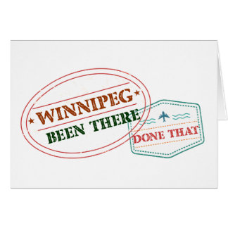 Cartão Winnipeg feito lá isso