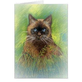 Cartão Winston, nosso gato Siamese do ponto do selo