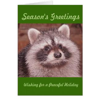 Cartão Wishfulness do guaxinim