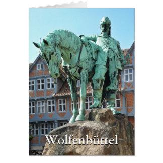 Cartão Wolfenbüttel 01,02, monumento do cavaleiro