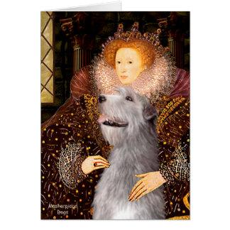 Cartão Wolfhound irlandês 6 - rainha