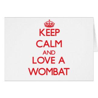 Cartão Wombat