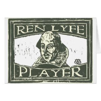 Cartão Woodcut de Senseshaper: Jogador Shakespeare de Ren