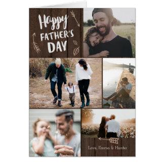Cartão Cartão Woodsy do dia dos pais de 5 fotos