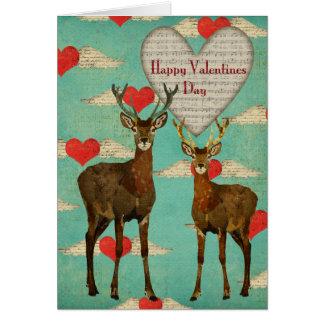 Cartão Woodsy dos namorados dos alces