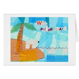 Cartão WTF, urso polar?