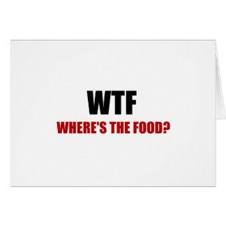 Cartão WTF Wheres a comida