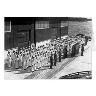 Cartão WWII: A bordo de USS Asheville (PF-1)