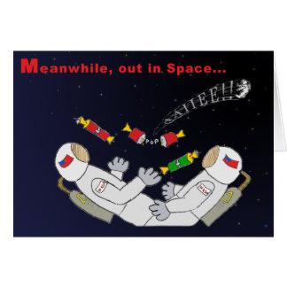 Cartão X-mas no espaço