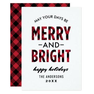 Cartão Xadrez alegre e brilhante do búfalo do feriado de