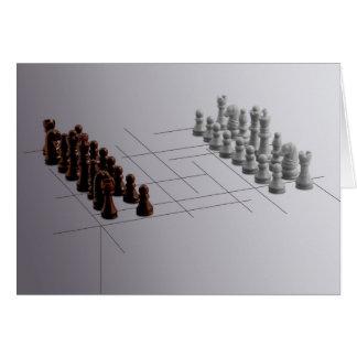 Cartão Xadrez do desenhista