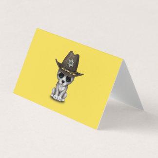 Cartão Xerife bonito do lobo do bebê
