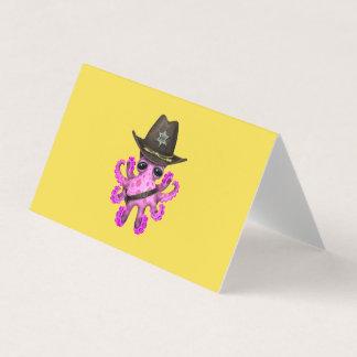 Cartão Xerife cor-de-rosa bonito do polvo do bebê