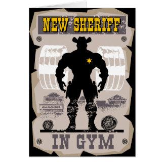 Cartão xerife novo no gym