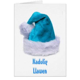 Cartão Xmas da feliz, Nadolig Llawen