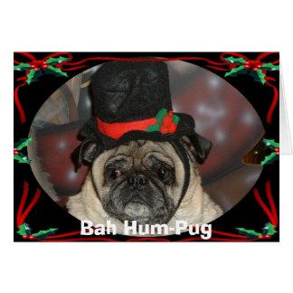 Cartão Xmas de Sam, Zumbido-Pug de Bah