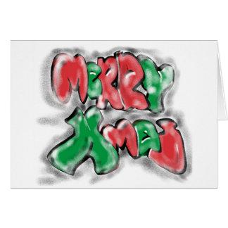 Cartão Xmas dos grafites