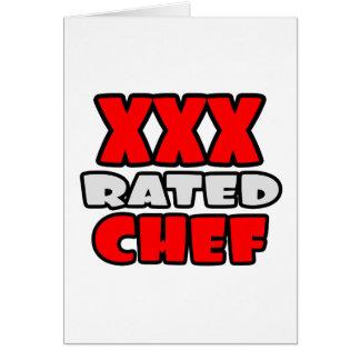 Cartão XXX cozinheiro chefe avaliado