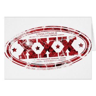 Cartão XXX selo